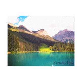 Smaragd sjö, Banff, Kanada Canvastryck