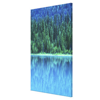 Smaragd sjö, Yoho NP, BC, Kanada Canvastryck