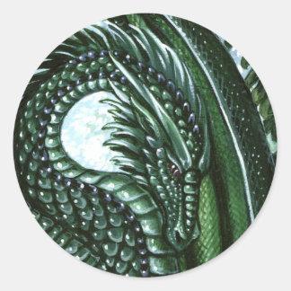 Smaragddrakeklistermärke Runt Klistermärke