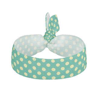 Smaragdgrönt med gul polka dots hårband