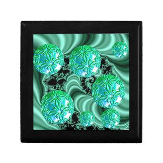 Smaragdsatängdrömmar - abstrakt irländsk Shamrock Presentskrin