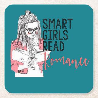 Smart flickor läste den romanska kustfartyget underlägg papper kvadrat