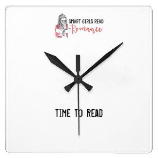 Smart flickor läste romanska Time för att läsa tar Fyrkantig Klocka