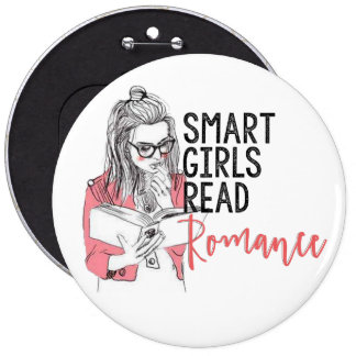 Smart flickor läste romanskt kolossalt knäppas jumbo knapp rund 15.2 cm