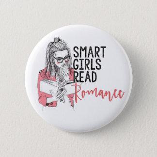 Smart flickor läste romantik cirklar knäppas standard knapp rund 5.7 cm