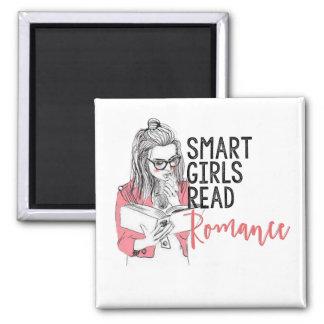 Smart flickor läste romantik kvadrerar magneten magnet