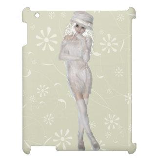 Smart glansigt iPadfodral för blond flicka iPad Skal