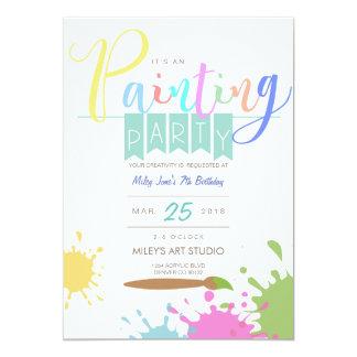 Smärta partyinbjudan för konst   12,7 x 17,8 cm inbjudningskort