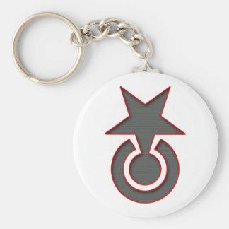 Smärta symbolslogotypen Keychain för stjärna   Rund Nyckelring