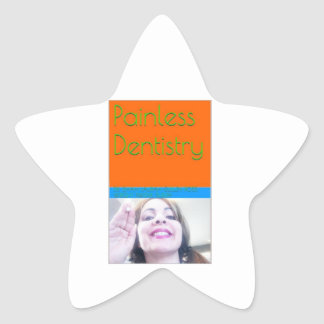 Smärtfri tandvårdeBook/bokomslag Stjärnformat Klistermärke