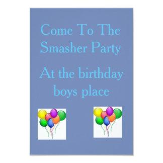 Smasherpartyet Invatation 8,9 X 12,7 Cm Inbjudningskort