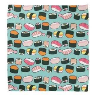Smaskig illustrerat mönster för Sushi roligt Scarf