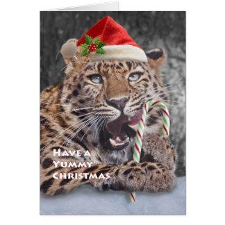 Smaskig julkort hälsningskort
