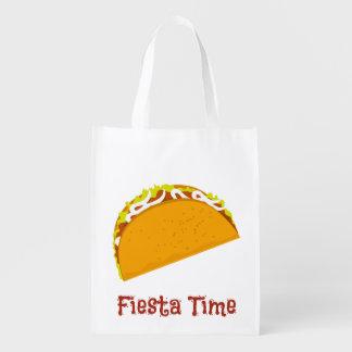 Smaskig Taco Återanvändbar Påse