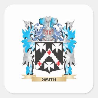 Smedvapensköld - familjvapensköld fyrkantigt klistermärke