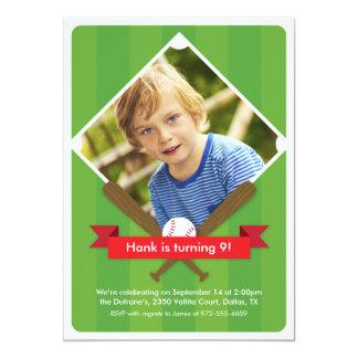 Smet upp barns partyinbjudan - Crimson 12,7 X 17,8 Cm Inbjudningskort