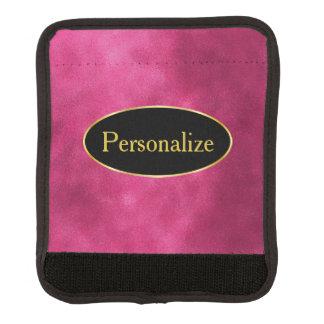 Smeta shock rosa med svart och den guld- etiketten handtagsskydd
