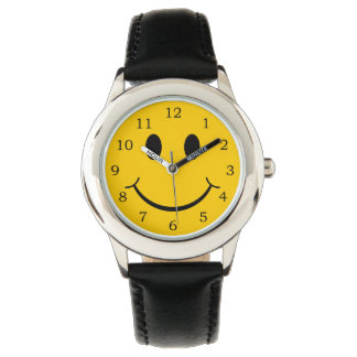 Smiley face armbandsur