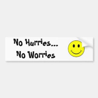 smiley face inga brådska… inga bekymmer bildekal