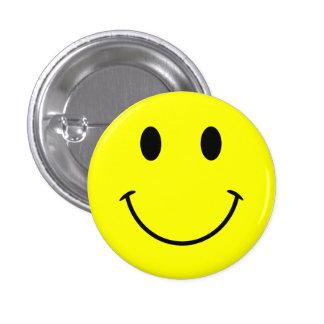 Smiley face knäppas mini knapp rund 3.2 cm