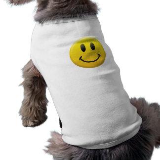 Smiley face långärmad hundtöja