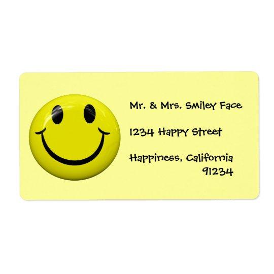 Smiley faceetiketter fraktsedel