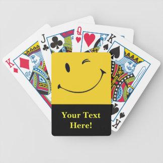 Smiley facekortlek spelkort