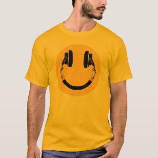 smiley med hörlurar tshirts