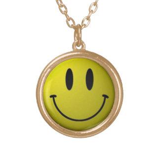 Smiley Neclace Guldpläterat Halsband