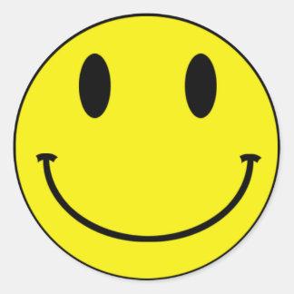 Smileyklistermärkear Rund Klistermärke
