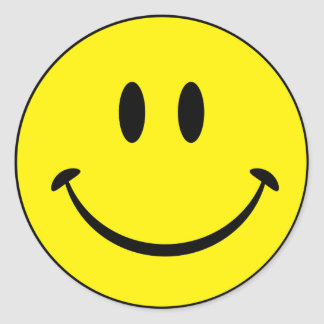 Smileylyckaansikte Runt Klistermärke