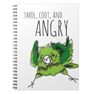 Smol, Coot och arg Anteckningsbok Med Spiral