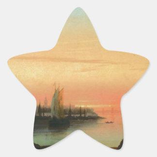 Smolny kloster Sunseat av Ivan Aivazovsky Stjärnformat Klistermärke