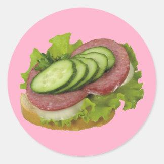 Smörgås Runt Klistermärke