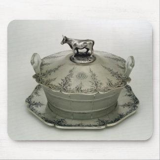 Smörmaträtten med ett frostat exponeringsglas base musmatta