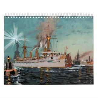 SMS Kaiserin Augusta som lämnar New York vid Kalender