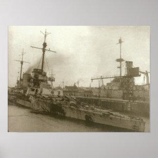 SMS Seydlitz efter Jutland Poster