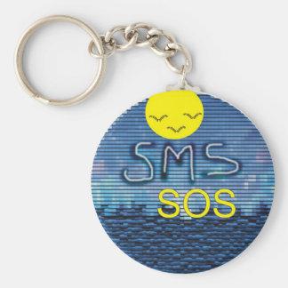 SMS-SOS RUND NYCKELRING