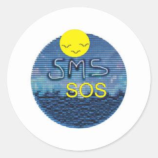 SMS-SOS RUNT KLISTERMÄRKE
