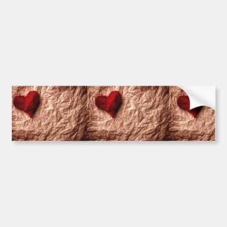 Smulat lantligt papper för vintage  + röd textilhj bildekaler