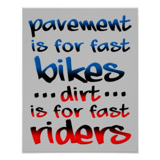 Smuts är för fastar den roliga motocrossen för poster