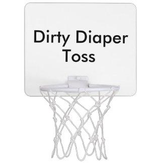 Smutsa ner leken för blöjaduggbaby shower Mini-Basketkorg