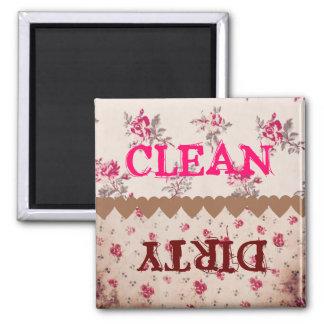 Smutsar ner den rosa rengöringen för elegant vinta magnet