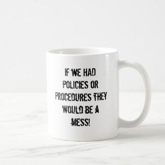 Smutsiga politik och tillvägagångssätt kaffemugg