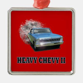 Smycka med tävlings- design för Chevy II friktion Julgransprydnad Metall