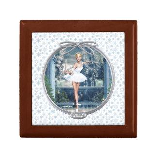 Smyckeskrin för snöPrincess Ballerina Minnessak