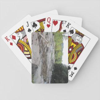 Snabb flod som leker kort, standarda indexansikten casinokort