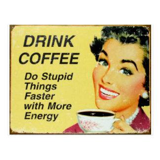 snabbare drinkkaffe vykort