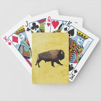 Snabbt växande Bison Spelkort