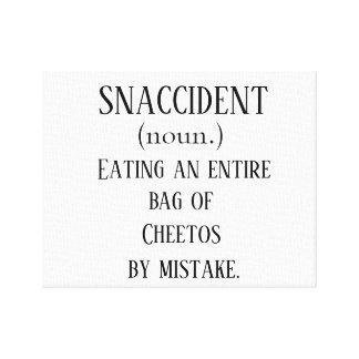 Snaccident (skräddarsy med din egna fest!), canvastryck
